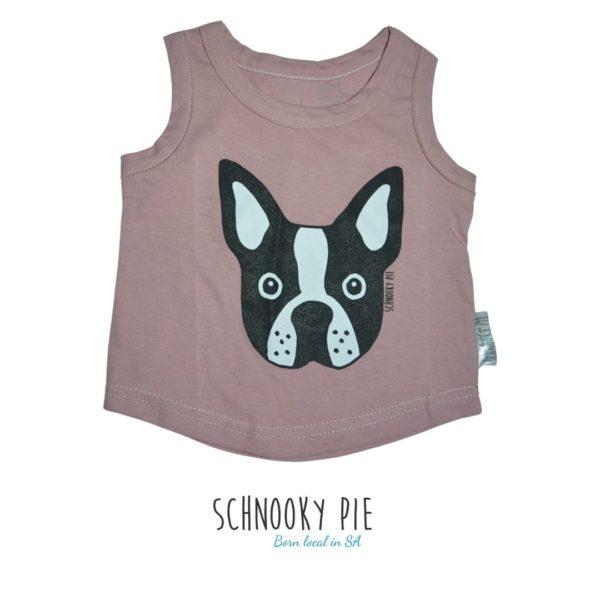 Dusty pink Boston Terrier vest