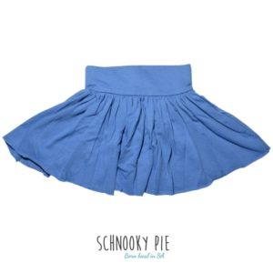 Girls denim blue, hemp jersey skirt, with a little frill, durable, soft and comfortable!