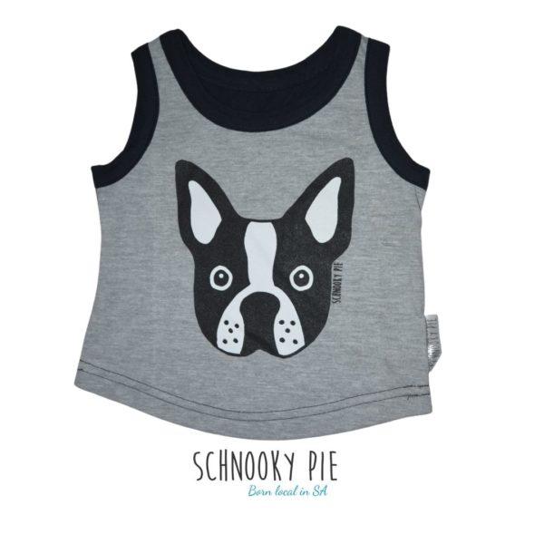 Black and grey, Boston terrier summer vest
