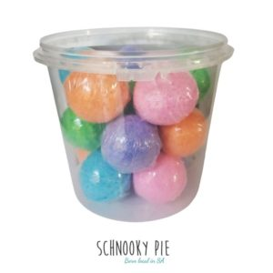 Berry bath bombs, with different colors