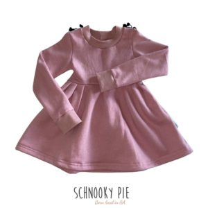 Dusty pink long sleeve winter dress